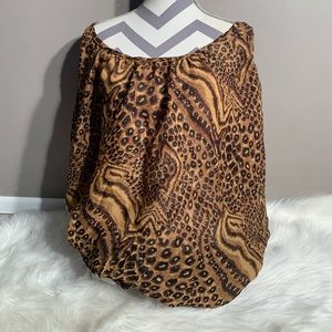 Urban Rose Size 2X Polyester Animal Print Top
